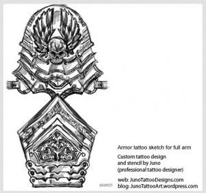 armor-tattoo-for-full-arm