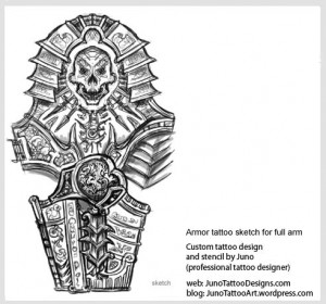 armor-tattoo-for-sleeve
