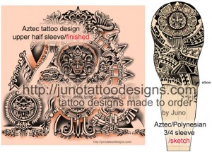 aztec_polynesian_tattoo_by_Junotattoodesigns