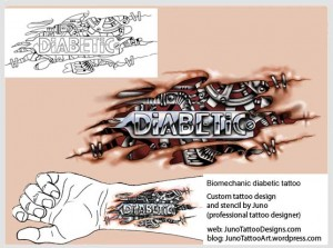 biomechanical tattoo-diabetic tattoo-tattoo stencil