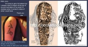 fantasy_dragons_tattoodesign