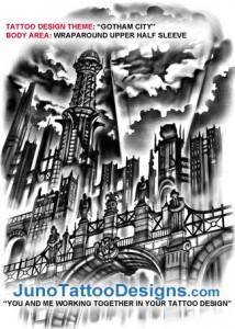 gotham_city_tattoo_design