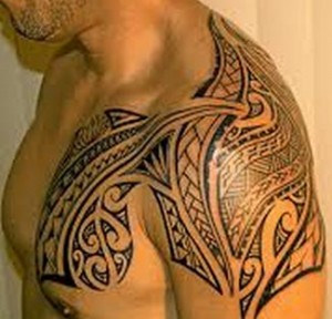 polynesian tattoo arm
