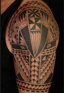 polynesian tattoo upper arm