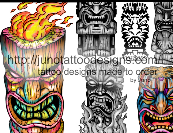 tiki tattoos Archives - How to create a tattoo %100 online